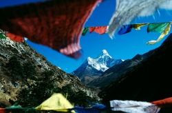AW012 - Ama Dablam and Prayer Flags